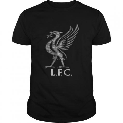 Guys Liverpool FC Mo Salah never give up black shirts