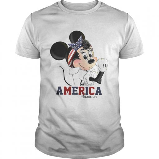 Guys Mickey American nurse life shirt