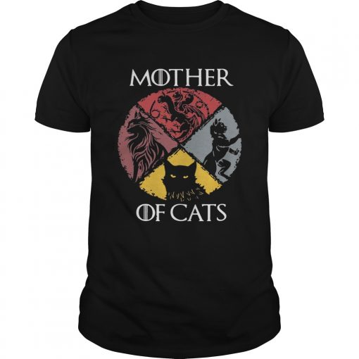 Guys Mother of cats vintage Game of Thrones shirt