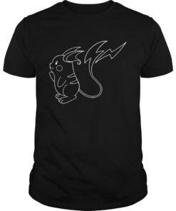Guys Raichu Pokemon Unisex adult T shirt