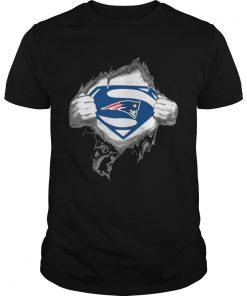 Guys Superman New England Patriots shirt