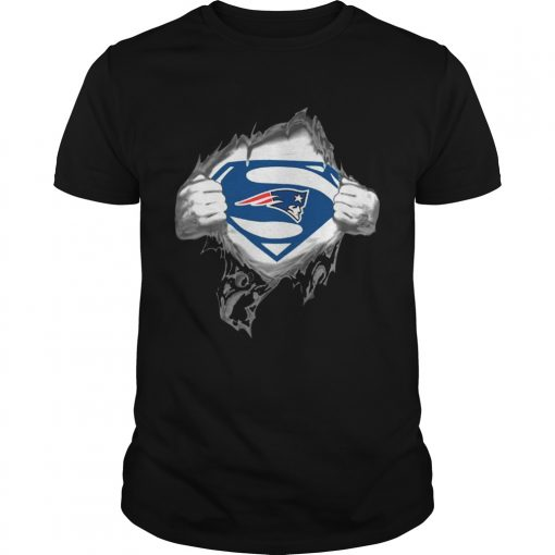 Guys Superman New England Patriots shirt