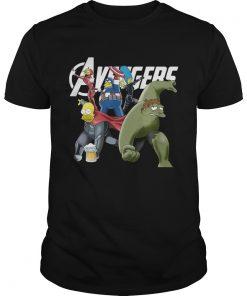 Guys The Simpsons Marvel Avengers Endgame shirt