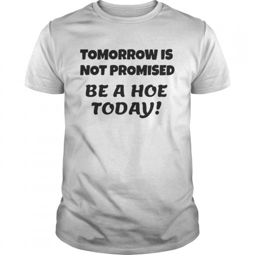 Guys Tomorrow is not promised be a hoe today shirt