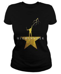 Highlander Hamilton star ladies tee