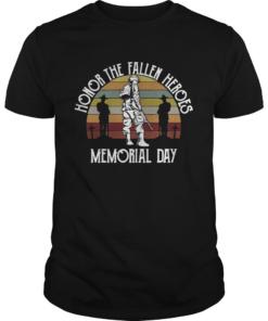 Honor the fallen heroes memorial day vintage  Unisex