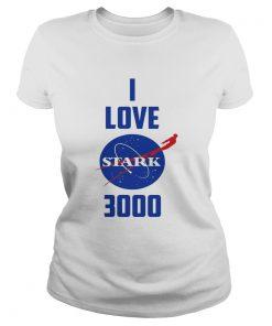 I Love You 3000 Nasa Stark Logo ladies tee