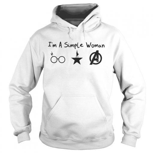 Im A Simple Woman Harry Potter Hamilton Avengers hoodie