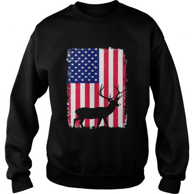 Independence Day Hunting American Flag Sweatshirt