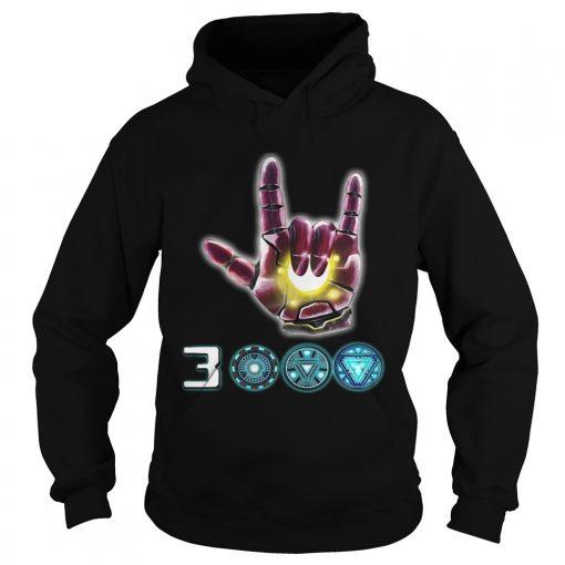 Iron Man I love you 3000 sign language Marvel Avengers Endgame hoodie