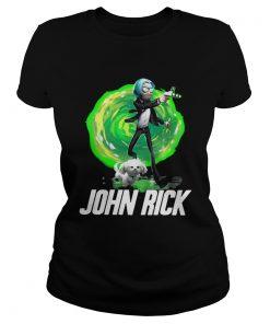 John Rick John Wick Rick And Morty ladies tee