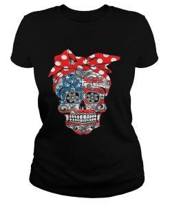 Lady Christian sugar skulls ladies tee