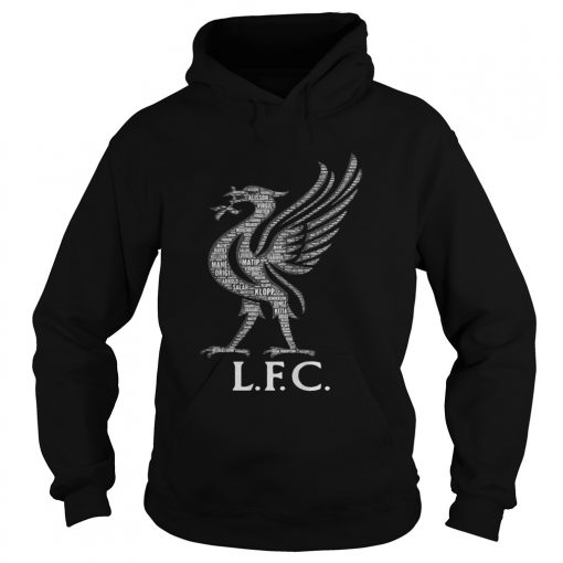 Liverpool FC Mo Salah never give up black hoodie