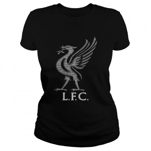 Liverpool FC Mo Salah never give up black ladies tee