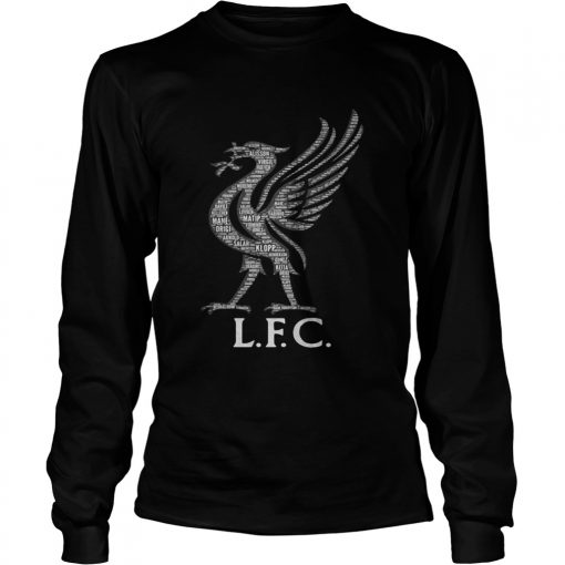 Liverpool FC Mo Salah never give up black longsleeve tee