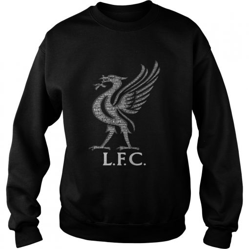 Liverpool FC Mo Salah never give up black sweatshirt