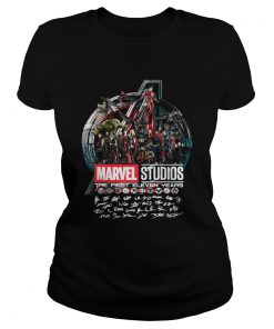 Marvel studios the first eleven years all characters' signature Avengers ladies tee