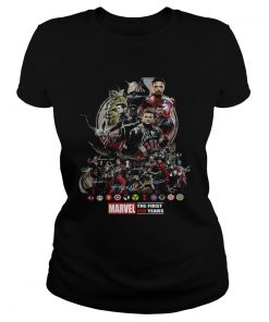 Marvel the first ten years all characters signature Avengers ladies tee