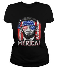 Merican Flag president Abraham Lincoln  Classic Ladies