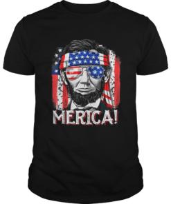 Merican Flag president Abraham Lincoln  Unisex