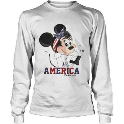 Mickey American nurse life longsleeve tee
