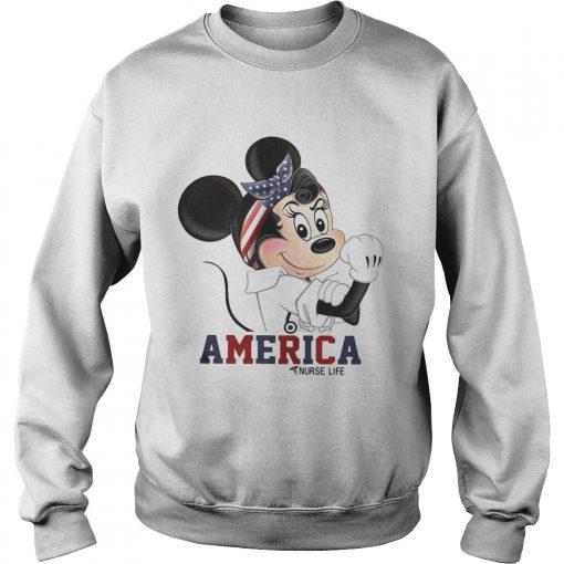 Mickey American nurse life sweatshirt