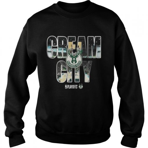 Milwaukee Bucks 2019 NBA playoffs cream city sweatshirt