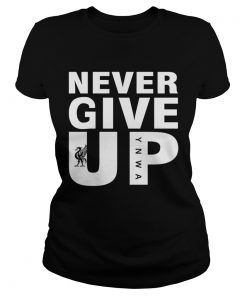 Mohamed Salah Never give up FC Liverpool ladies tee