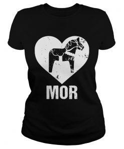 Mor Dalecarlian Horse Version ladies tee