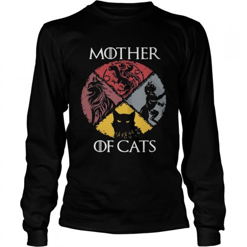 Mother of cats vintage Game of Thrones longsleeve tee