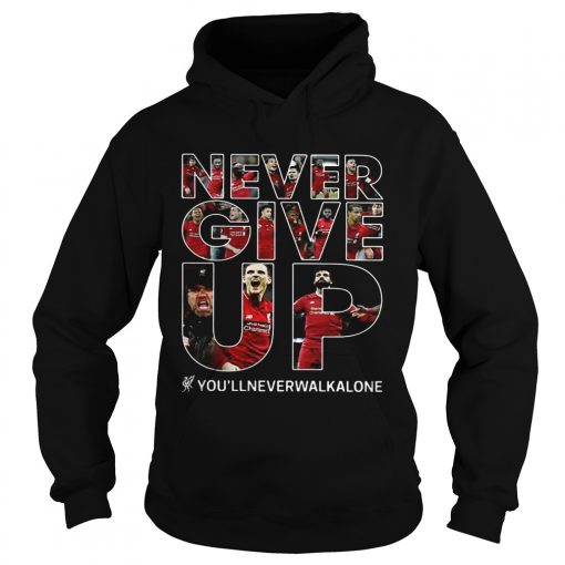 Never give up youllneverwalkalone hoodie