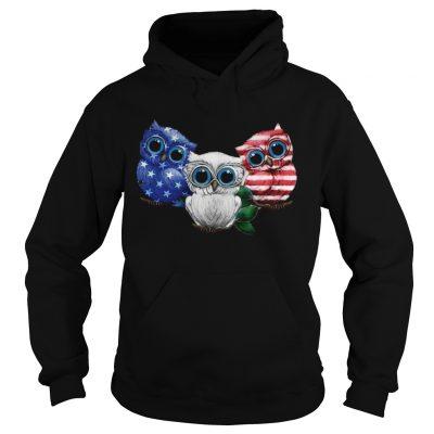 Owl American flag hoodie