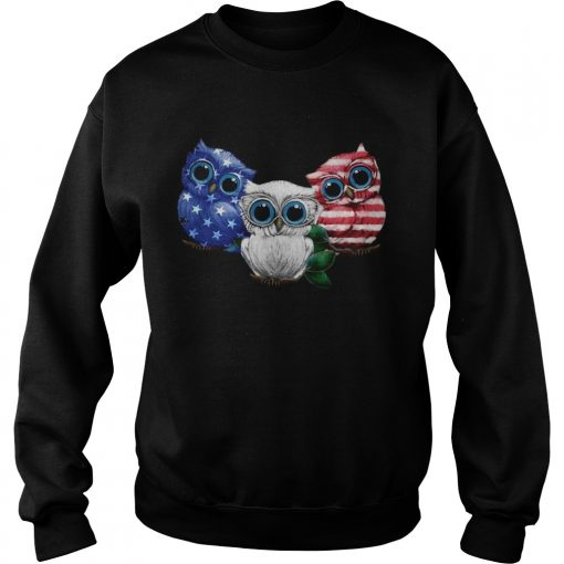 Owl American flag sweatshirt