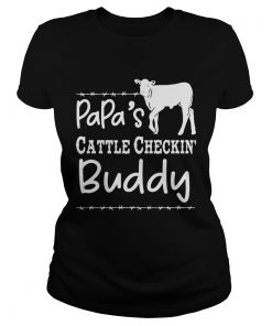 Papas cattle checkin buddy ladies tee