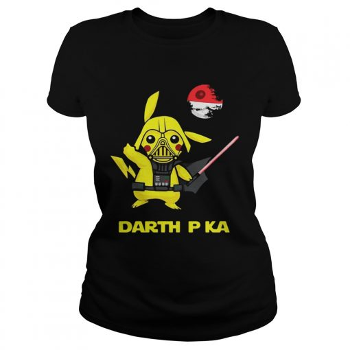 Pikachu cosplay Darth Vader Star Wars ladies tee