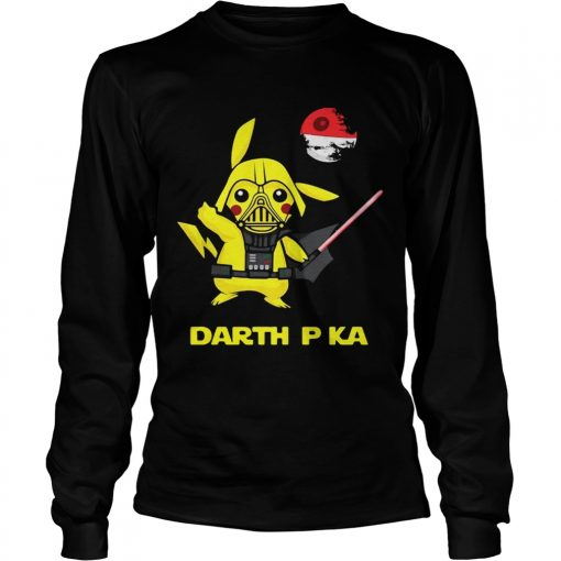 Pikachu cosplay Darth Vader Star Wars longsleeve tee