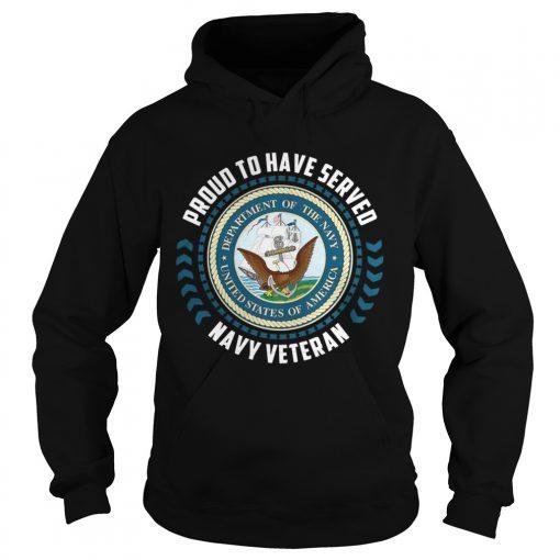 Proud to have served navy veteran hoodie