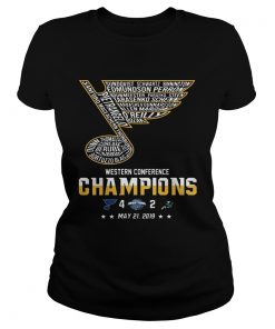 St Louis Blues Western Conference Champions 2019 Hockey T Classic Ladies