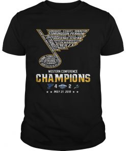 St Louis Blues Western Conference Champions 2019 Hockey T Unisex