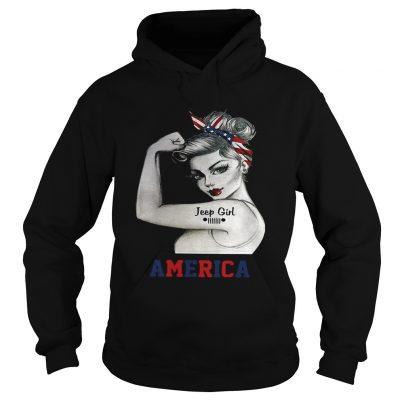 Strong woman Jeep girl America hoodie