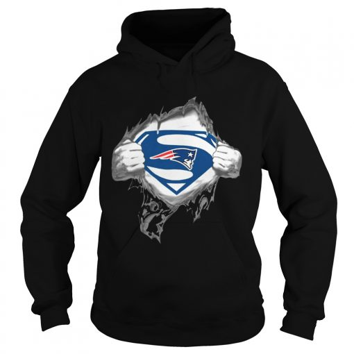 Superman New England Patriots hoodie