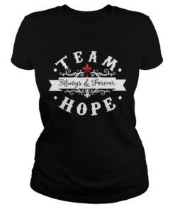 Team always and forever hope ladies tee