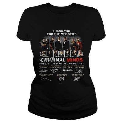 Thank you for the memories Criminal Minds 20052019 signature ladies tee