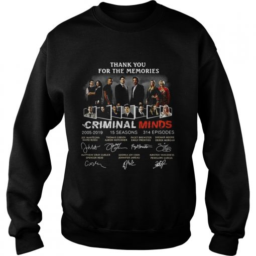 Thank you for the memories Criminal Minds 20052019 signature sweatshirt