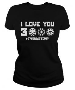 ThanksTony I Love You 3000 ladies tee