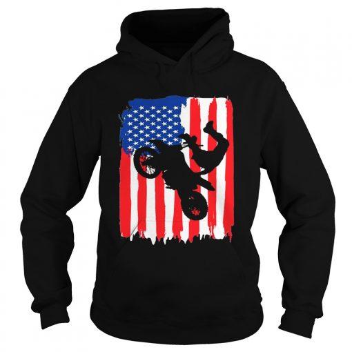 The Freestyler Dirt Line Motor American Flag hoodie