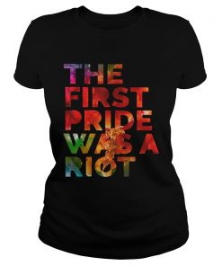 The first pride was a riot ladies tee