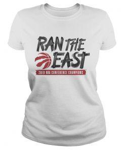 Toronto raptors ran the east 2019 NBA conference champions ladies tee