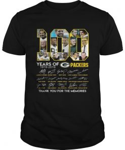 100 years of Green Bay Packers thank you for the memories signature  Unisex