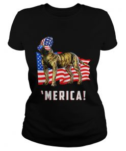 4th Of July Presa Canario Dog Merica Tee  Classic Ladies
